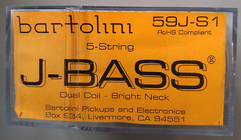 Bartolini 59J-S1 5 String J Bass Neck Pickup Strong Lows & Low Mids , Accessories, Bartolini, Texas Guitar Ranch - Texas Guitar Ranch