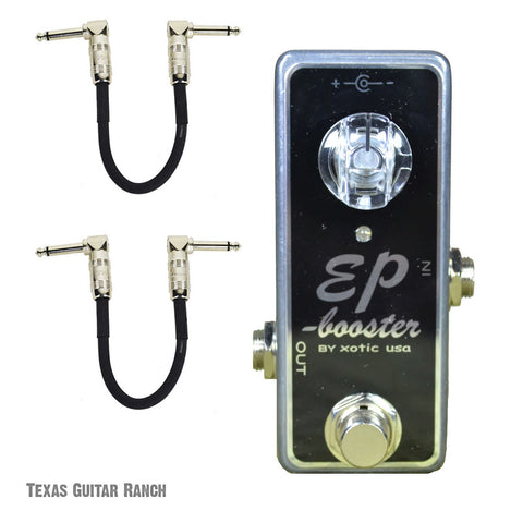 Xotic EP Booster with Free Patch Cables Guitar Effects Pedal , Pedals, Xotic, Texas Guitar Ranch - Texas Guitar Ranch