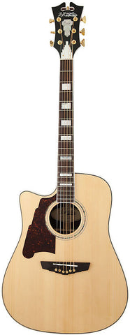 D'Angelico SD-500 Bowery Dreadnought Spruce Rosewood Fishman INK4 Hardshell Case Natural Lefty Left