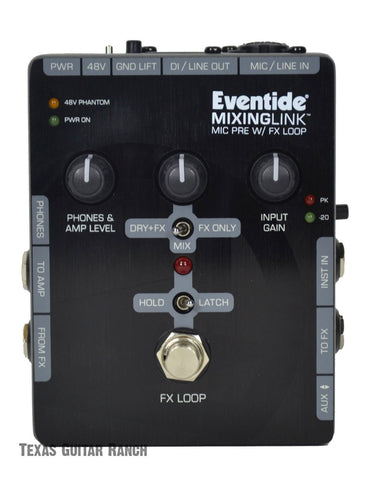 Eventide Mixing Link Microphone Preamp Effects Loop Mic Pre FX Effects Pedal , Pedals, Eventide, Texas Guitar Ranch - Texas Guitar Ranch