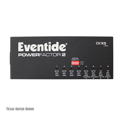 Eventide PowerFactor 2 Guitar Effects Power Supply For Pedal Pedalboard Factor