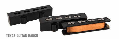 Aguilar AG 4J-HOT Jazz Bass Pickup Set 4 String Overwound Hot Output Pickups , Accessories, Aguilar, Texas Guitar Ranch - Texas Guitar Ranch
