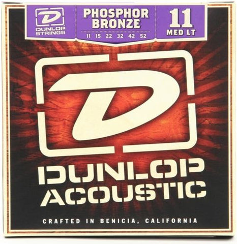 Dunlop Acoustic Guitar Strings, Phosphor Bronze Medium Light , Strings, Dunlop, Texas Guitar Ranch - Texas Guitar Ranch