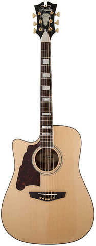 D'Angelico SD-400 Brooklyn Dreadnaught Acoustic Guitar Left Handed Lefty Solid Sapele Hard Case EQ