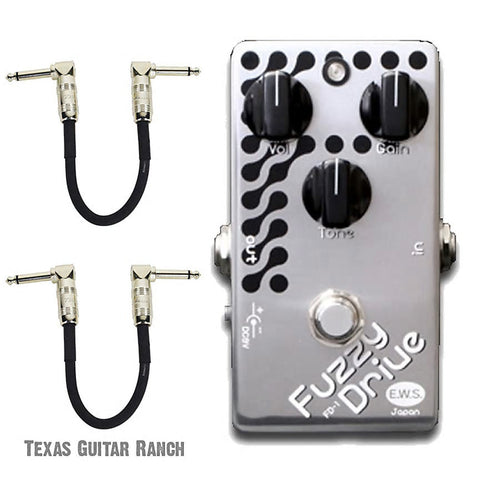 E.W.S. Fuzzy Drive Overdrive with Free Patch Cables Guitar Effects Pedal , Pedals, EWS, Texas Guitar Ranch - Texas Guitar Ranch