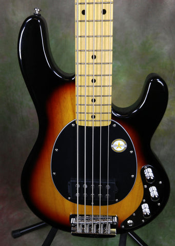 Sterling by Music Man SBMM RAY35CA 5 String Bass Guitar 3TS Tobacco Sunburst SN29157