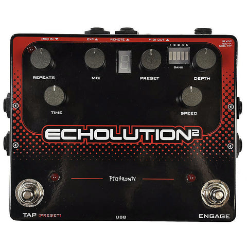 Pigtronix Echolution 2 Delay Effects Pedal , Pedals, Pigtronix, Texas Guitar Ranch - Texas Guitar Ranch