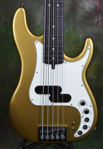Xotic XP-IT Electrum Metallic Gold 5 String P-Bass Guitar wGig Bag 5-st P Bass