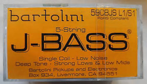Bartolini 59CBJS L1S1 5 String J Bass Set Deep tone, strong lows, low mids, low noise , Accessories, Bartolini, Texas Guitar Ranch - Texas Guitar Ranch