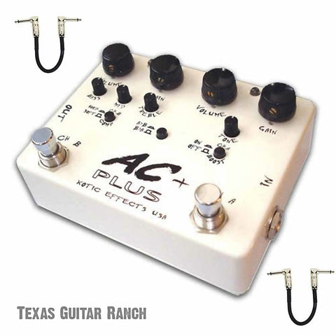 Xotic AC Plus Booster with Free Patch Cables Guitar Effects Pedal