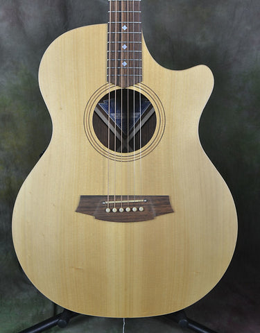 Cole Clark Angel AN2AC3-BR Acoustic Guitar Bunya Top - Indian Rosewood Back & Sides 2266