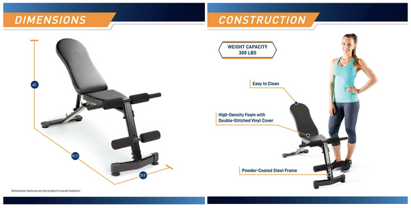 Marcy MSB228 Utility Bench specifications