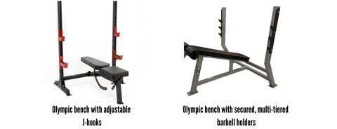 comparison of two different olympic weight benches