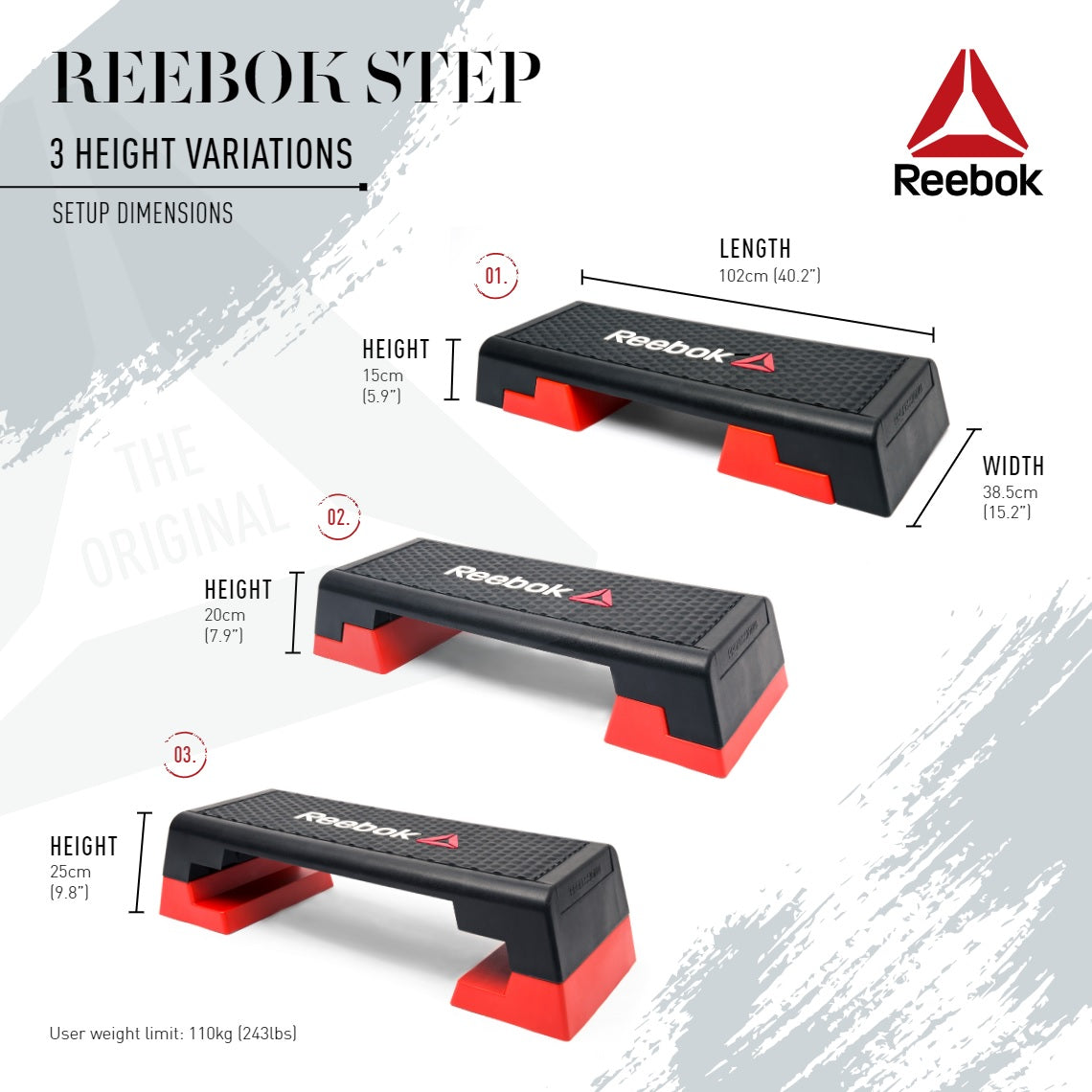 Reebok Professional Commercial Aerobic Step