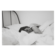 lady sleeping in bed