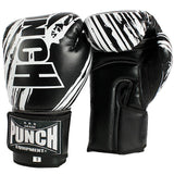 Youth black and white punch boxing gloves