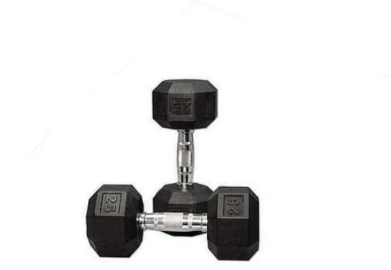 35 kg Body Iron Commercial Rubber Hex Dumbbell Pair