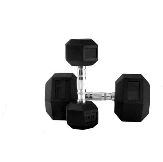 1 kg Body Iron Commercial Rubber Hex Dumbbell Pair