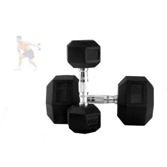 9 kg Bodyworx Commercial Rubber Hex Dumbbell Pair