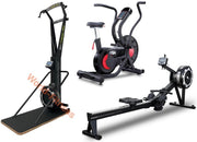 Commercial Air Bike- Rower - Ski Machine (Set)