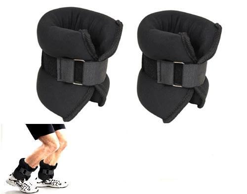 Body Iron 5 kg Ankle Weights Black - 2.5 kg Pair