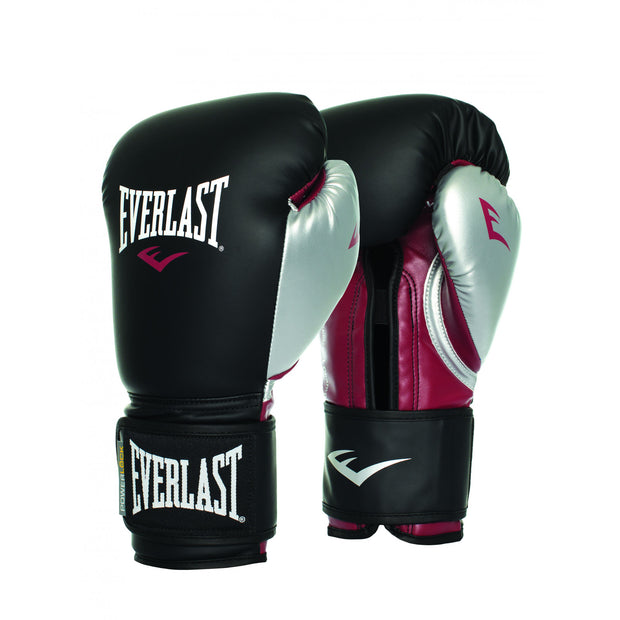 Everlast Powerlock Training Glove Black/Maroon/Silver