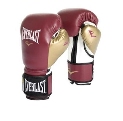 Everlast Powerlock Training Glove Maroon/Gold