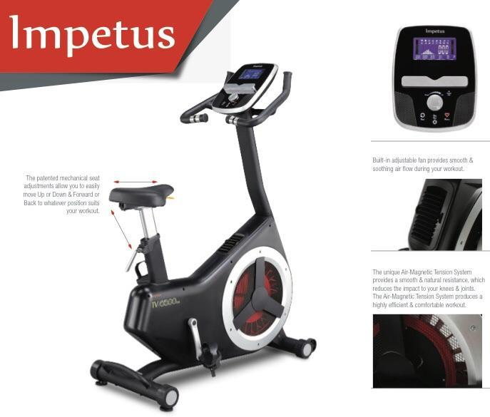 IMPETUS AIV6500AMV2 FIXED HANDLE BAR AIR MAG Exercise Bike