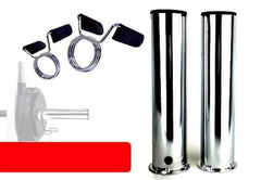 Chrome Olympic Adapter Sleeve- Pair (with Spring collars)