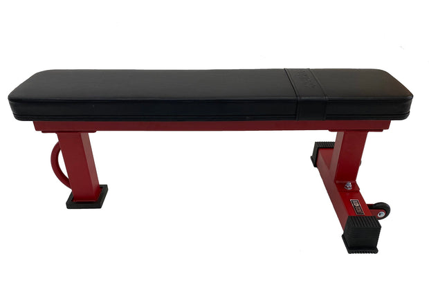 Body Iron Commercial Flat Bench Tough (Red Frame)