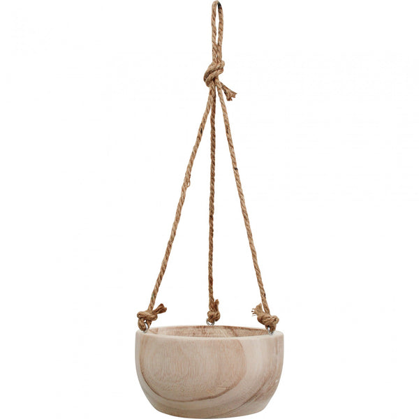 Timber planter hanging