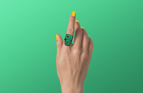 Aurora - Green Robot Ring - ROBOTA PROJECT