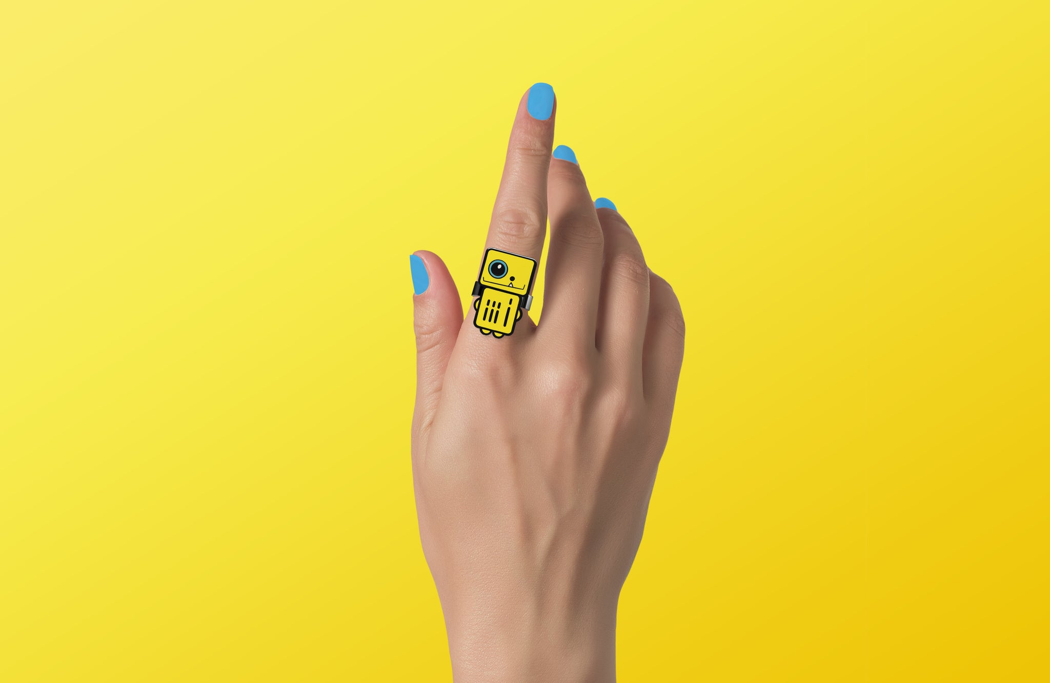 Sunglow  - Yellow Robot Ring - ROBOTA PROJECT
