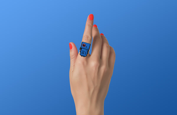 Sonic Blue - Blue Robot Ring - ROBOTA PROJECT