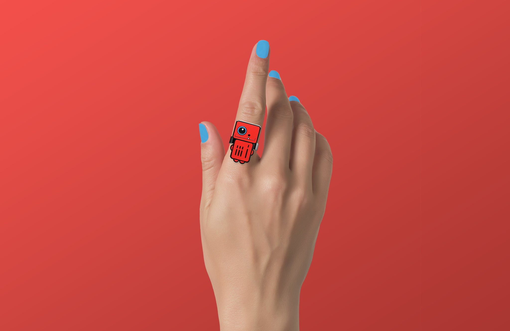 Infrared - Red Robot Ring - ROBOTA PROJECT
