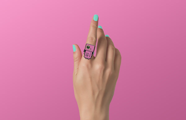 Stardust - Pink Robot Ring - ROBOTA PROJECT