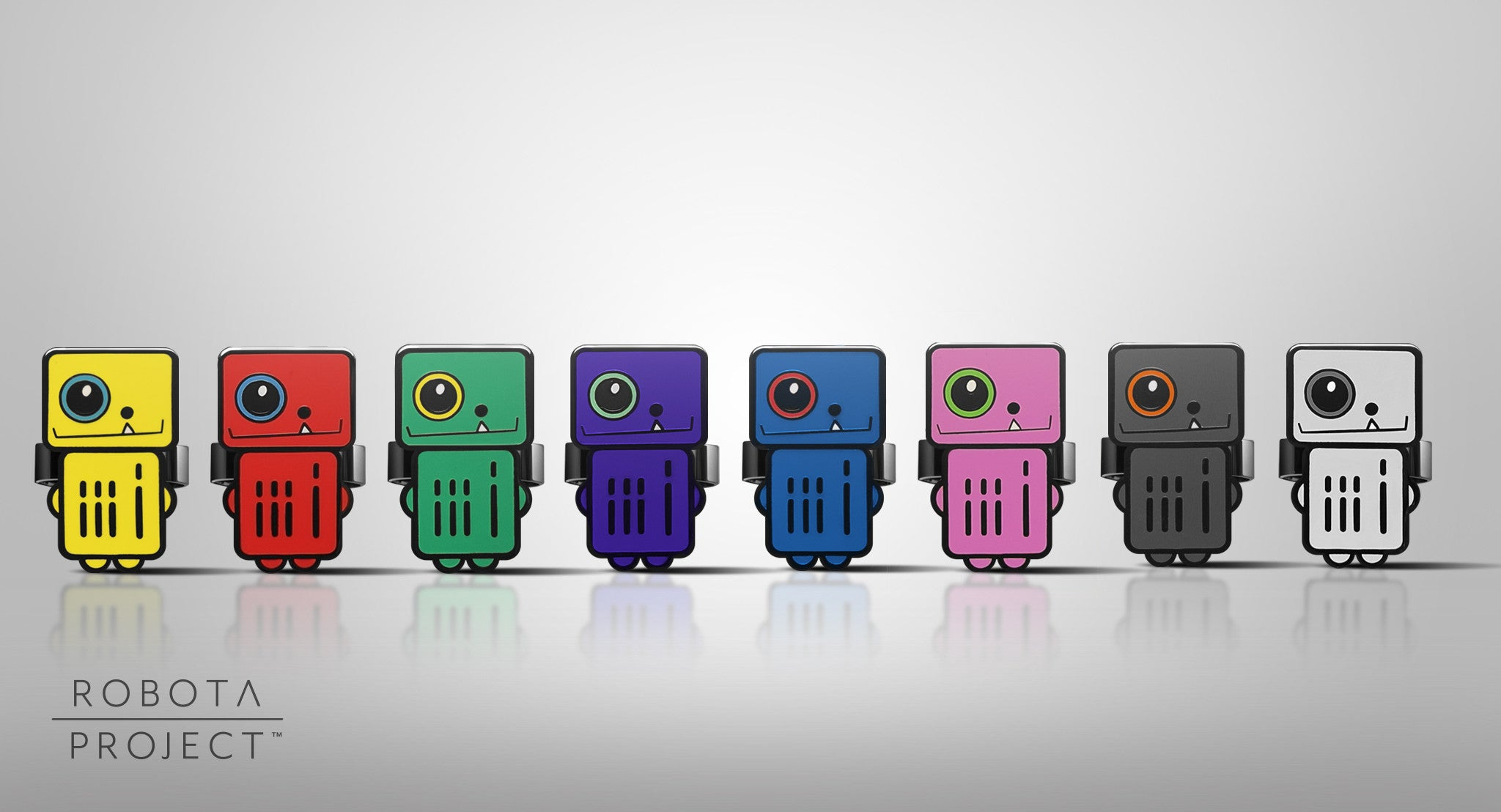 Robot Rings and Pins - All Colors - ROBOTA PROJECT