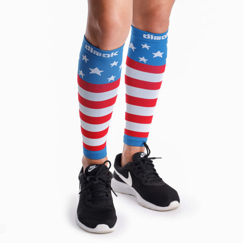 USA Flag Graduated Calf Compression Sleeves