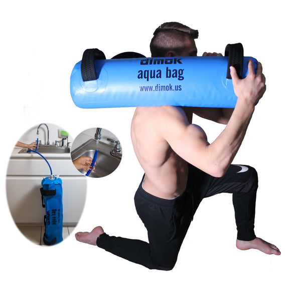 Aqua Bag SandBag For Fitness Equipment w Water - Home Gym Workout Sand Bag Training - Dimok