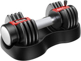 12.5-25 lb dimok Adjustable Dumbbell Weights (Plates, Anti-Slip Handle - Home Gym Exercise Full Body Workout (Single) - Dimok