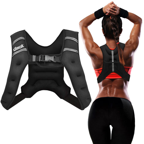 Sport Weighted Vest Workout Equipment 12lbs Body Weight Vest for Men Women Kids - Dimok