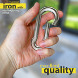 dimok Heavy Duty Carabiner Clips Stainless Steel Spring Snap Hook Set - Camping Swing Boating Hammock Hiking 3 1/2 Inch - Dimok