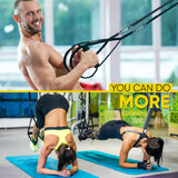 Suspension Trainer Home Gym Resistance Exercise Full Body Workout - Dimok