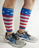 USA Flag Graduated Calf Compression Sleeves Calf Support Footless Socks - Dimok