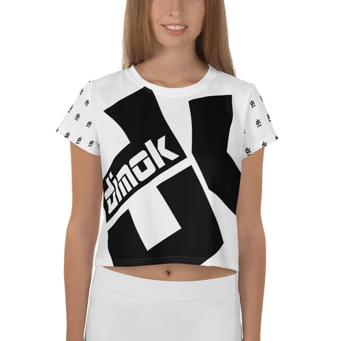 All-Over Print Crop Tee - Dimok