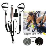 Home Gym Suspension Trainer Resistance Exercise Full Body Workout with X-mount - Dimok