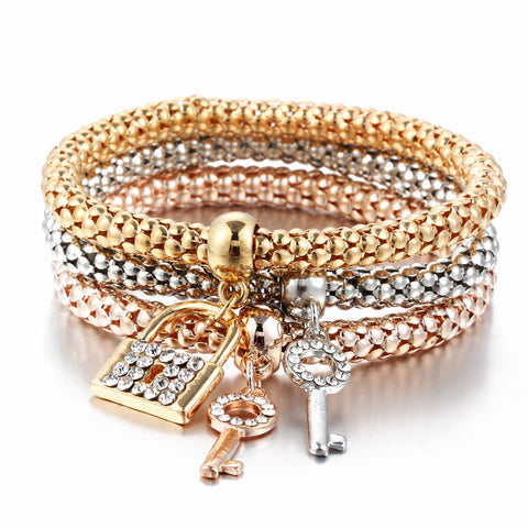 Crystal Charm Bracelet & Bangle In Various Styles