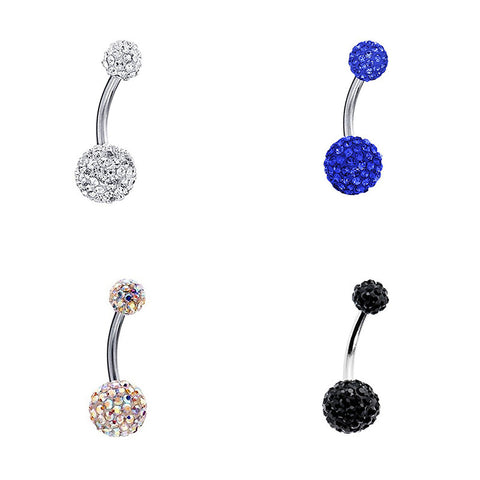 Magnificent Navel Rhinestone Barbell In Various Colors