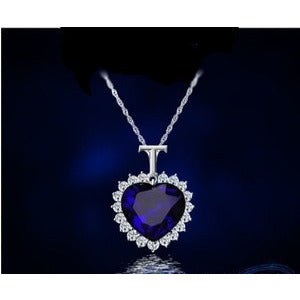 Heart of the Ocean Blue Sapphire Necklace