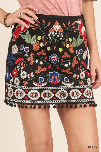 Tristan Embroidered Skirt